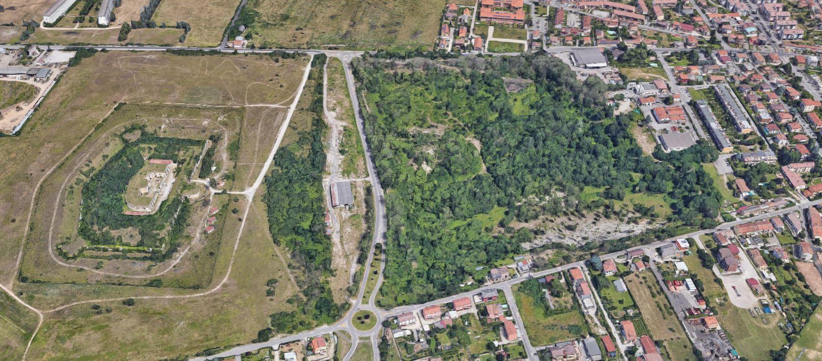 vista aerea dalle foto di Google Maps